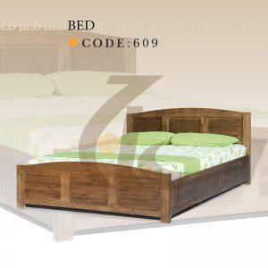 تختخواب دو نفره چوبی کد 609