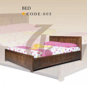تختخواب چوبی دونفره عاج