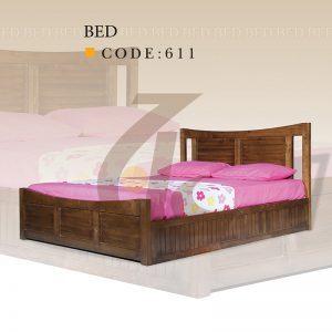 تختخواب دو نفره کد 611