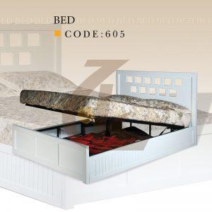 تختخواب دونفره کد 605