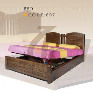 تختخواب دونفره کد 607