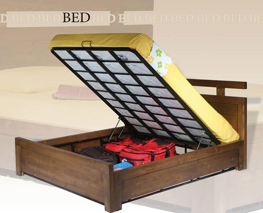 تختخواب دونفره چوبی کد ۶۰۱